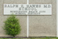 Hawes Front of School Sign